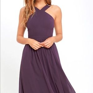 Never Worn LULU Dusty Purple Dress Size M